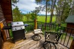 Enjoy the beautiful mountain views from the deck