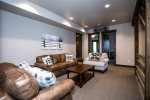Multiple lounging spaces to relax in plus an additional queen sleeper sofa