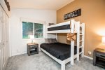 The second bedroom is perfect for the kids with Twin over Queen Bunk
