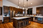 Beautiful Granite counters and stainless steel appliances