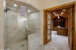 massive master suite closet has plenty of room for your belongings