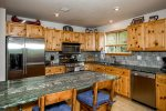 Stainless steel appliances and beautiful granite countertops