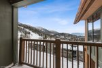 Take in the views of the mountain from your private balcony