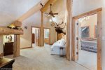 Separate shower & tub in this spacious attached bath