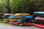 Canoes for guest use