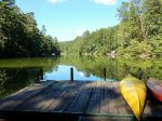 The private dock provides a serene spot to sit and relax. You can also put in a canoe or kayak provided for your use.