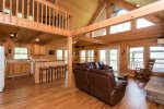 When you enter the home, you will see the open floor plan.