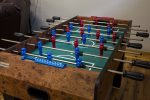 Of course there are games too. Wonderful who will be the foosball champ in your group.