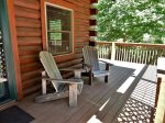 At the entry, Adirondack chairs bid you to sit down and relax.
