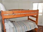 Lower level bedroom with twin size bunk bed