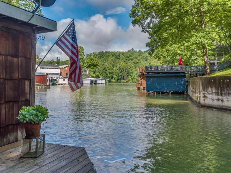 Cottage In The Cove Is A Lake Lure Lakefront With 2 Bedrooms 1 5 Baths Fire Pit And More