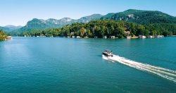 Pontoon Boat - For Carolina Properties Lakefront Homes