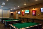 Pool tables at Legends