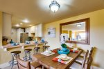 Dining Areas / Large Table sits 6 and then Breakfast counter for 4 with Stools
