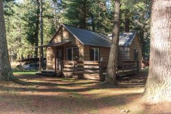 Remodeled cabin with nice shady deck and BBQ