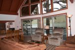 Living/Dining room with fantastic windows to enjoy the lake views.