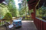 Large wrap around deck to sit and enjoy the peacful mountain air.