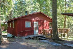 Two bedroom cabin with open living room