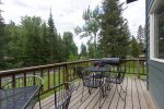 large rear deck with fantastic views of the river