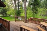 Beautiful 3 story deck overlooking the river.