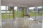 Large Screened Balcony For Dining & Relaxing