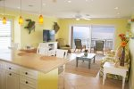Dining / Living with Direct Oceanfront Balcony Access
