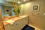Master Bathroom includes spacious double sink vanity with granite counter tops.