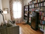 Third bedroom is a veritable library, complete with a twin sofa bed