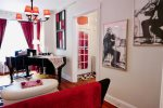 Pops of color create a fun and glamorous home base