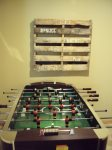 Foosball in lower level
