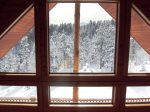 Upper level view from loft in winter