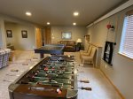 Lower level family room with Game Area