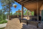 Lower patio with fire pit and hot tub