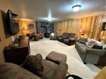 Lower level Pool Table, Dartboard