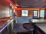 Awesome yard with firepit and water feature, great view of Terry Peak