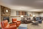 Lower Level Family Room-Sat TV, fireplace, Shuffleboard, bar