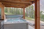 Hot tub on lower level patio