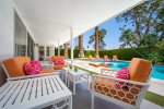 Gas Firepit And Cactus Garden With Mountain View