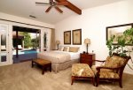 King Bed, 51 Inch TV, Walk-In Closet, Ensuite Bathroom in Private Casita Opens to Pool