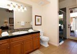 Ensuite Casita Bathroom Has Walk-In Shower & Door To Pool
