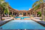 Raised Saltwater Spa Overflows Into Pool