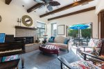 Formal Living Room Opens to Outdoor Dining Area