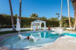Saltwater Pool with Tanning Shelf, Cabana, Raised Saltwater Spa