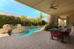 Impressive Stone Entry w/Wrought Iron Gates