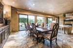 Formal Dining Room Opens to Outdoor Dining Area