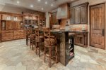 Gourmet kitchen with Dacor and Sub Zero appliances plus walk-in pantry