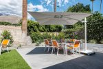 Outdoor Dining Area Features 10` X 10` Umbrella