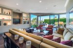 Living Room Features 48 Inch TV And Unobstructed Views Of The Outdoor Spaces
