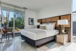 King Bed, 49 Inch TV, Pool View and Jack & Jill Bathroom in Guest Bedroom Two