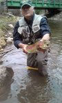 Catch and Release Trout Fishing Right from the Vacation Home Riverfront Cabin